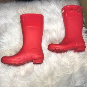 Hunter Boots.  Big Girl's Size 4.Color: flare.